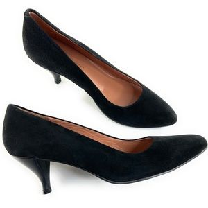 Robert Clergerie Black Suede Kitten Heels